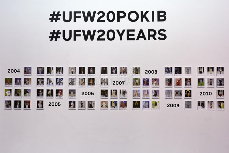 Kyiv, Ουκρανία - 4 Φεβρουαρίου 2017: Έκθεση φωτογραφιών UFW Backstag στοκ εικόνα