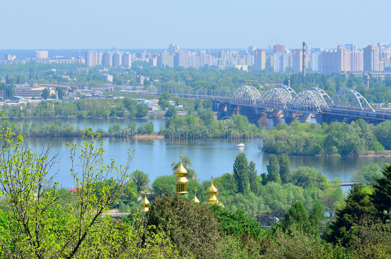 Download Kyiv Botanical Garden In Spring Stock Image - Image of hill, monastery: 24694409