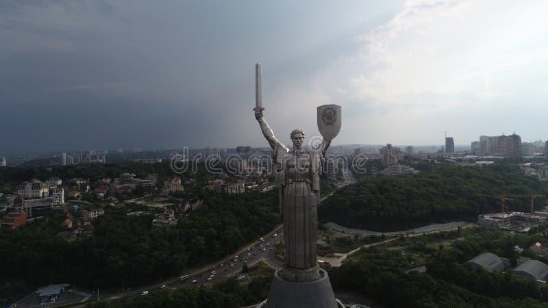 Kyiv - de hoofdstad van de Oekraïne luchtfotografie van hommel Mooi land met grote en lange geschiedenis Europees land E stock foto