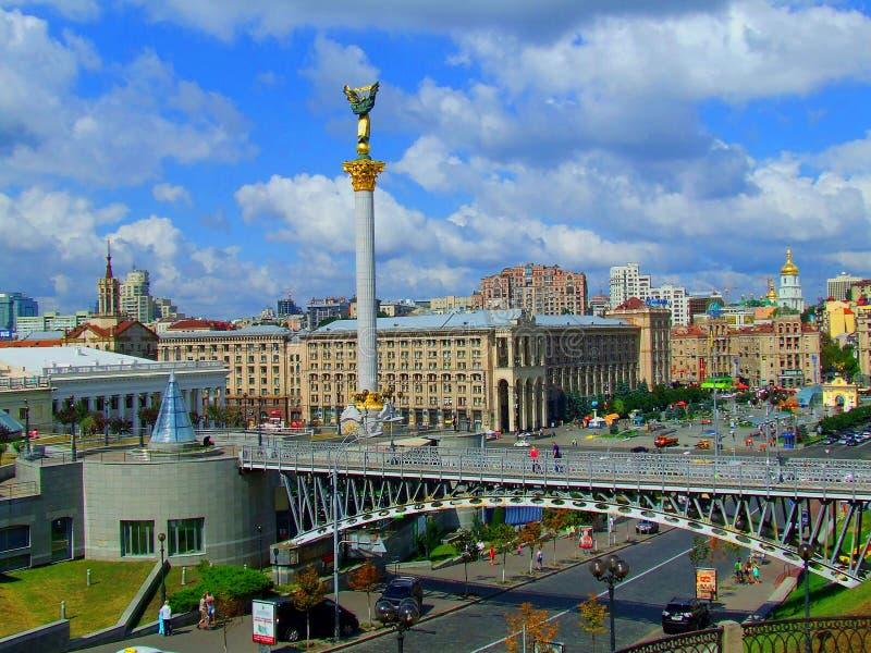 Kyiv de Oekraïne Maidan Nezalezhnosti royalty-vrije stock afbeelding