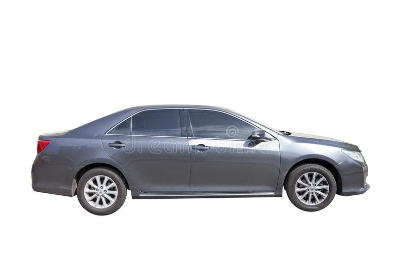KYIV, DE OEKRAÏNE - MEI 13, 2018: model van de TOYOTA-auto van grijze kleur Geïsoleerdj op witte achtergrond royalty-vrije stock afbeeldingen