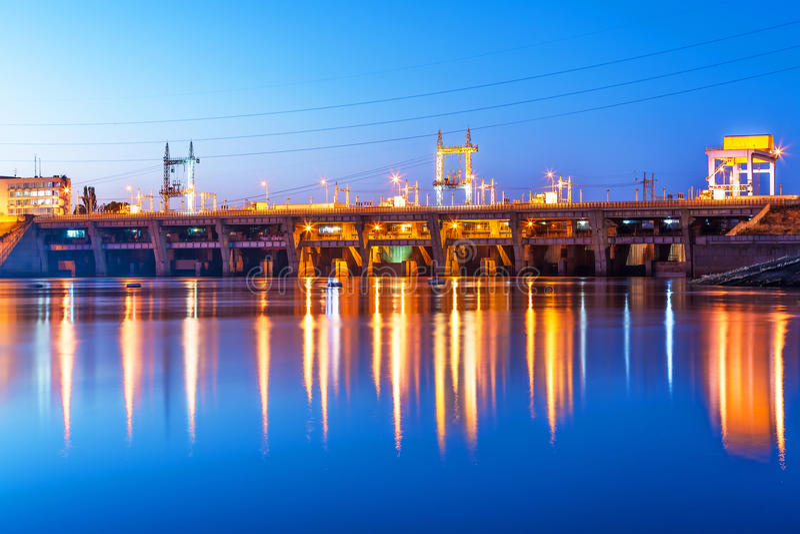 Kyiv Hydro-elektrische Elektrische centrale, de Oekraïne stock foto