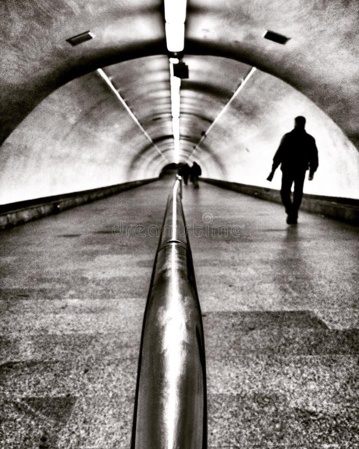 Kyiv metro rzadkiego moment być pusty - Kyiv, Ukraina zdjęcia stock