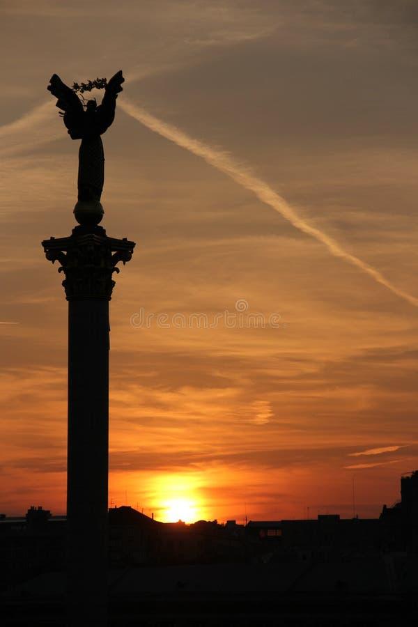 Kyiv Monumento da independência imagens de stock