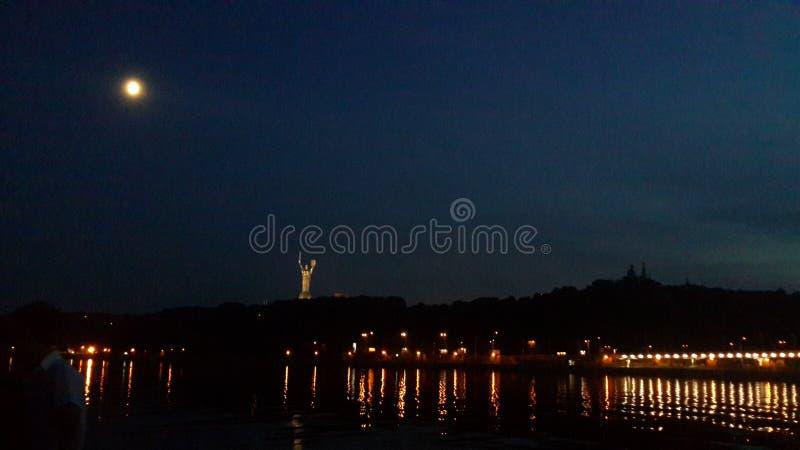 Kyiv night stock photo