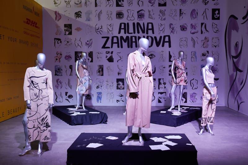 Kyiv, Ucrânia - 7 de fevereiro de 2017: Alina Zamanova Installation como foto de stock royalty free