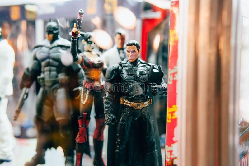 KYIV, UCRAINA - 9 SETTEMBRE 2018: Christian Bale come figu di Batman fotografia stock libera da diritti