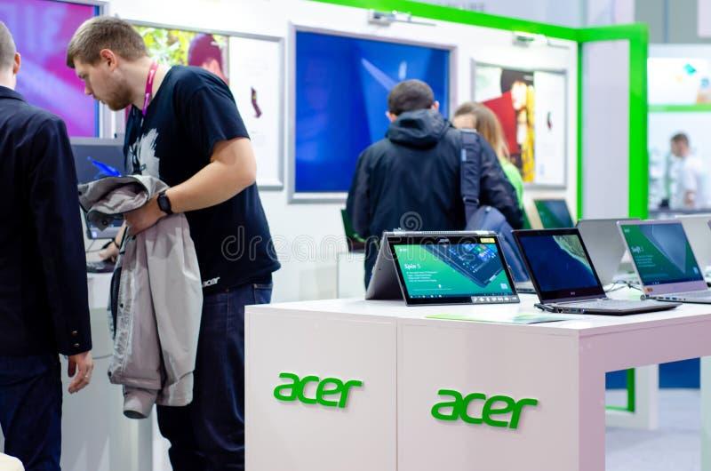 Kyiv Ukraina, Kwiecień, - 12, 2019: Acer projekta ekspozycji stojak obraz stock