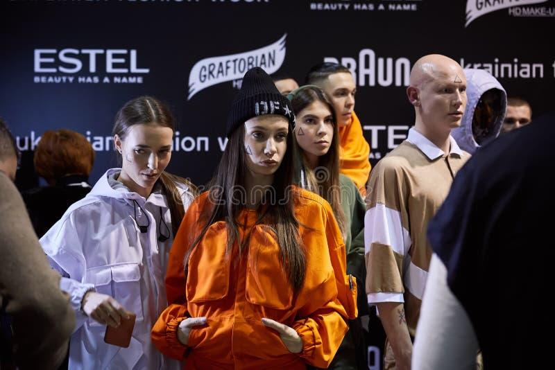 Kyiv Ukraina, Luty, - 5, 2017: Modele Zakulisowy kniaź zdjęcia royalty free