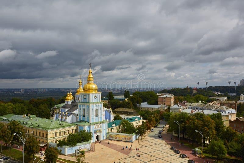 Kyiv Ukraina, Wrzesień, - 7, 2013: Widok St Mikhail ministra kaplica fotografia royalty free