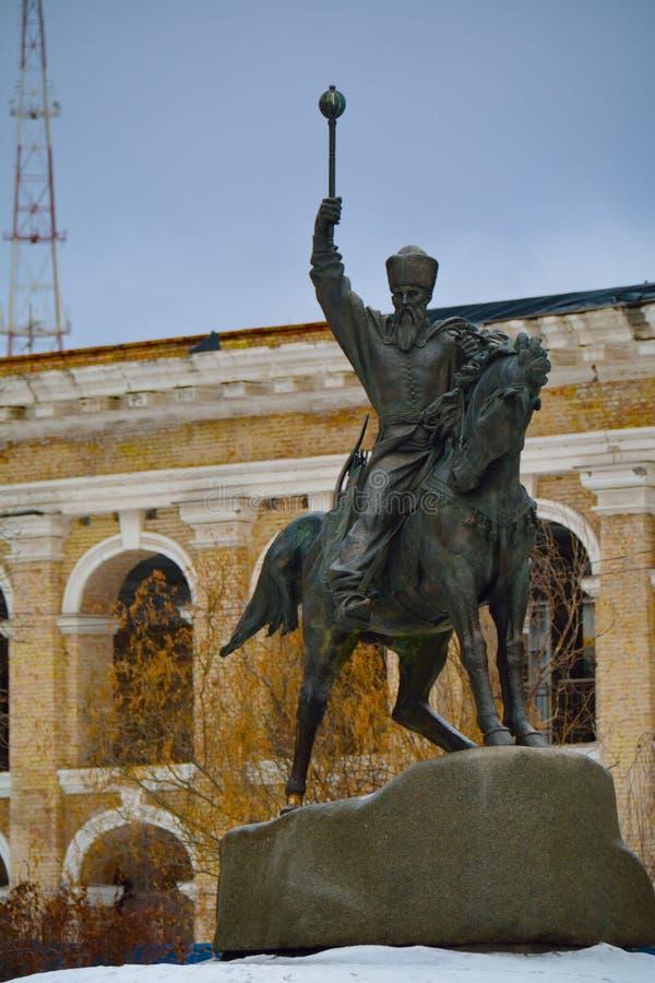 KYIV/UKRAINE - 10 ΙΑΝΟΥΑΡΊΟΥ 2015: μνημείο σε Sahaidachnyi hetman στοκ εικόνες με δικαίωμα ελεύθερης χρήσης