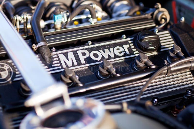 Kyiv, Ukraine - 23 APRIL, 2016: BMW M6 e24 engine - s38b35. Stock photos