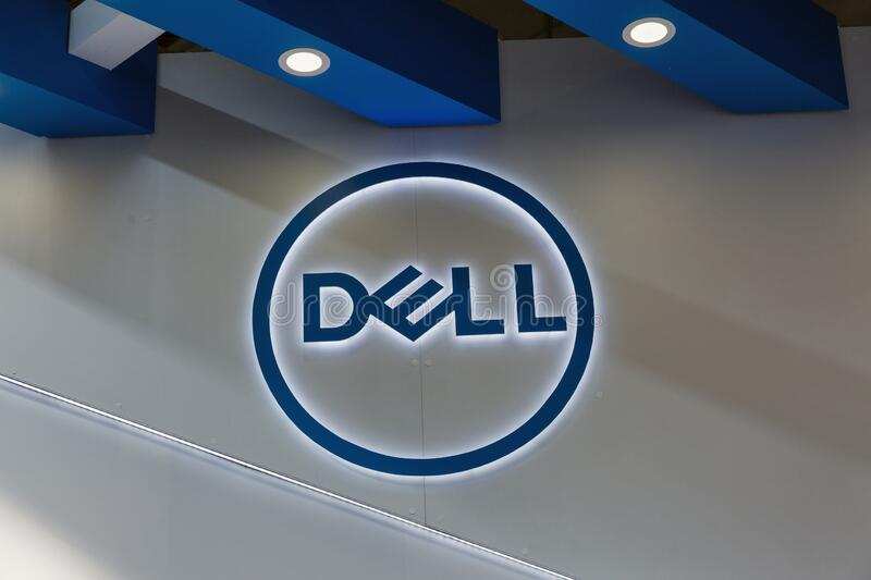 Dell booth at CEE 2019 in Kyiv, Ukraine royalty free stock image