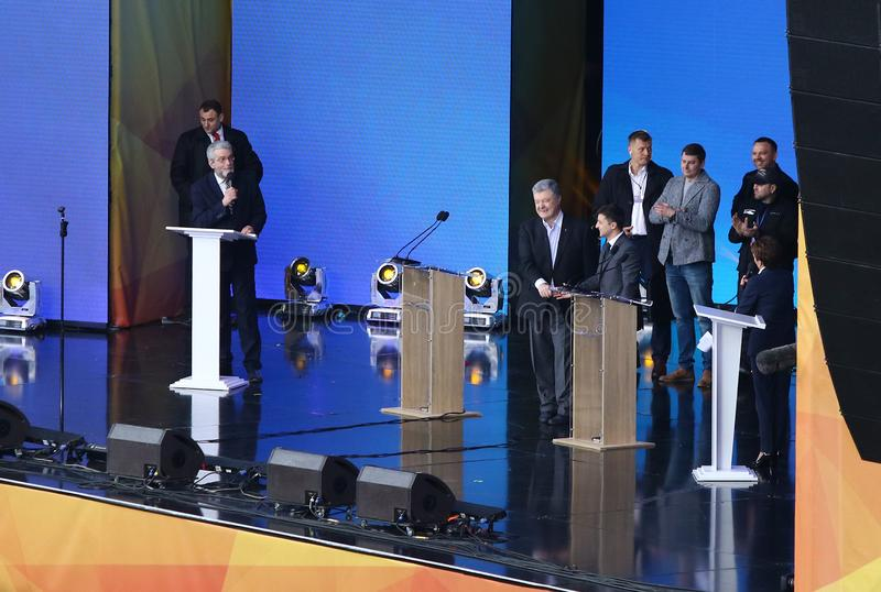 Ukrainian Presidential Debate in Kyiv stock image