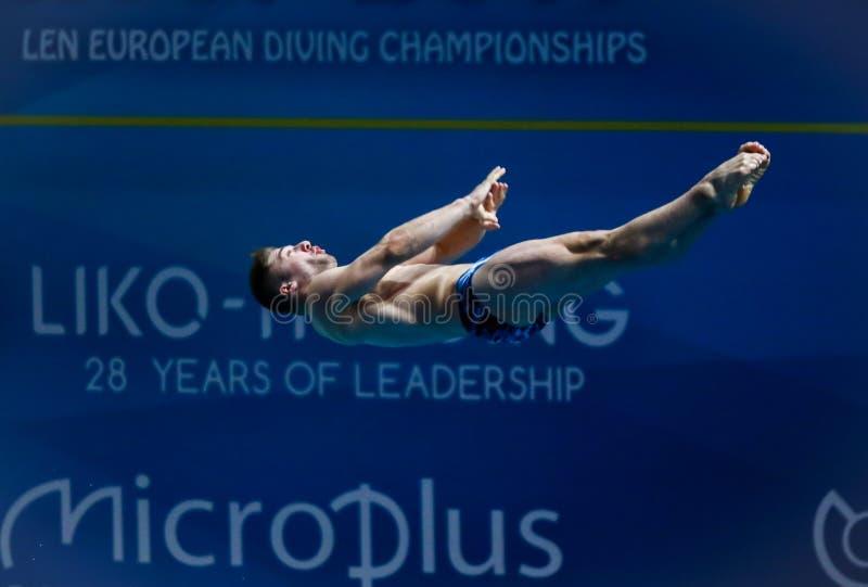 2019 European Diving Championship in Kyiv, Ukraine royalty free stock photo