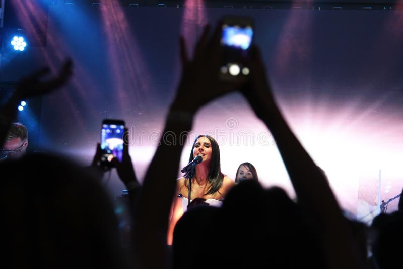 Kyiv. Ukraine. August 2015. The famous Ukrainian singer Jamala a royalty free stock photo