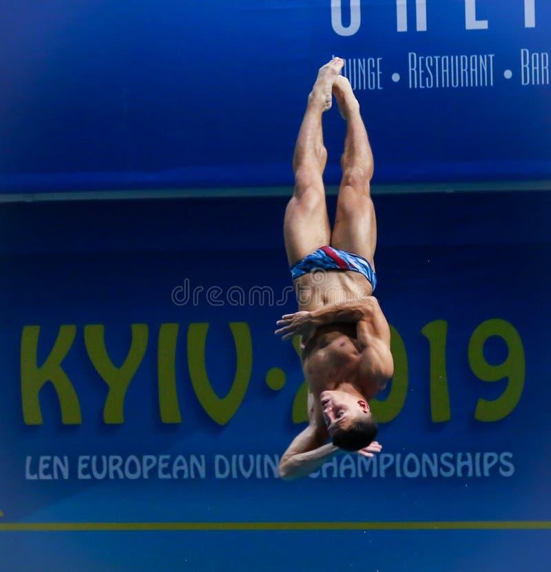2019 European Diving Championship in Kyiv, Ukraine stock photo