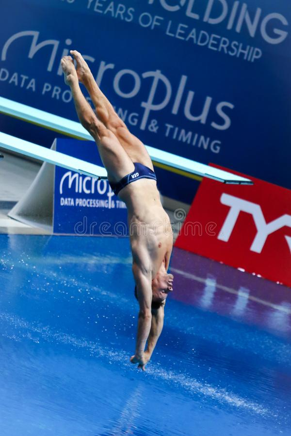 2019 European Diving Championship in Kyiv, Ukraine stock photography