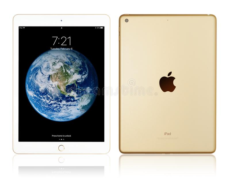 Apple iPad Gold royalty free stock photo