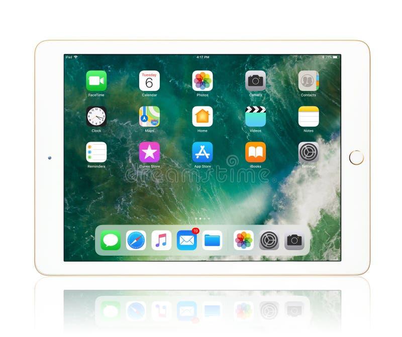 Apple iPad Gold stock photos