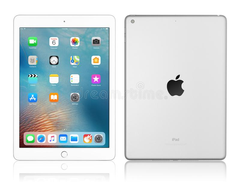 Apple iPad silver royalty free stock images