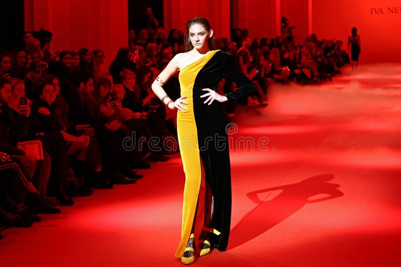 Ukrainian fashion week FW18-19 in Kyiv stock images