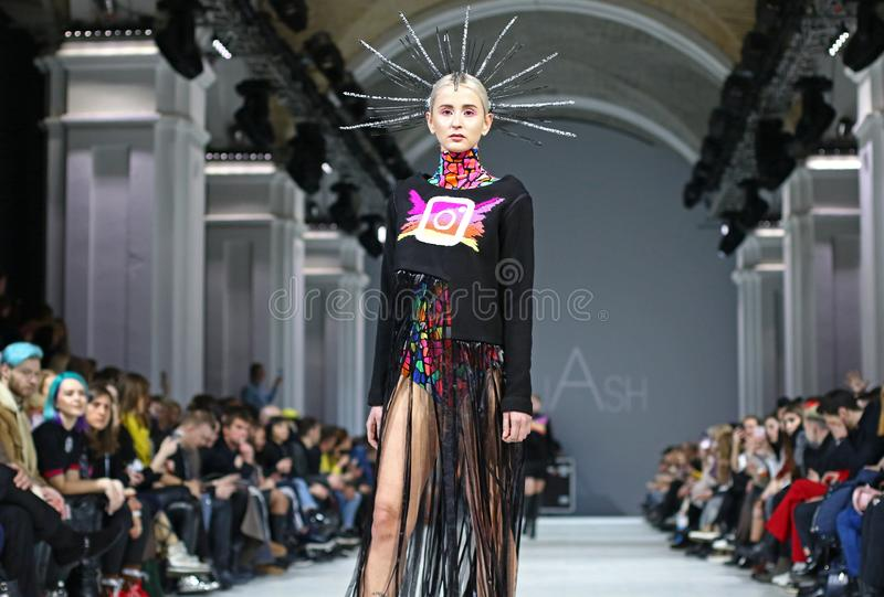 Ukrainian Fashion Week FW18-19: collection by GUASH royalty free stock image