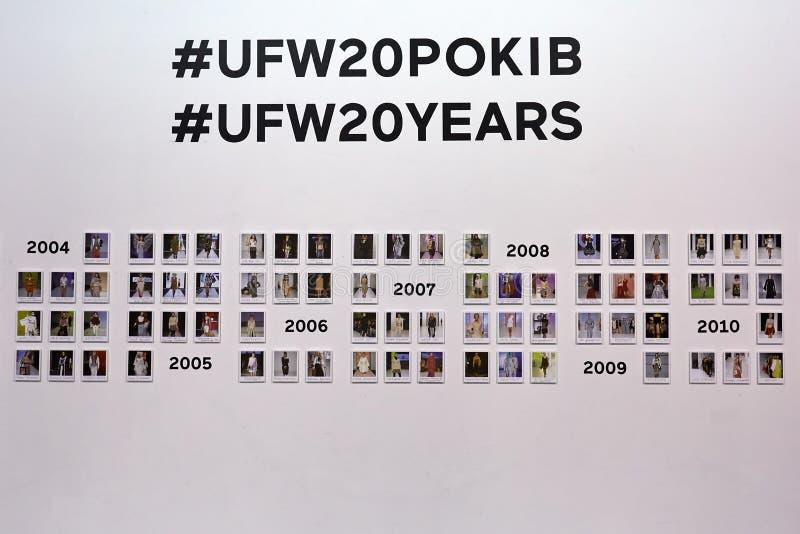 Kyiv, Ukraine - February 4, 2017: UFW Photo Exposition. Backstage of Ukrainian Fashion Week 2017 stock image