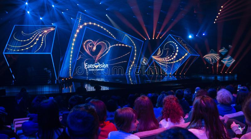 First semifinal of Ukraine`s selection for Eurovision 2019 royalty free stock images