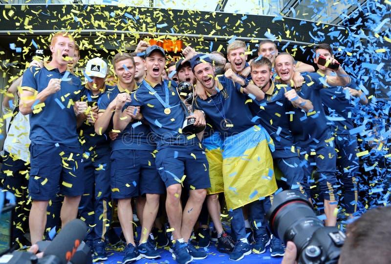 Ukraine National Team, the winner of FIFA U-20 World Cup 2019 royalty free stock photo