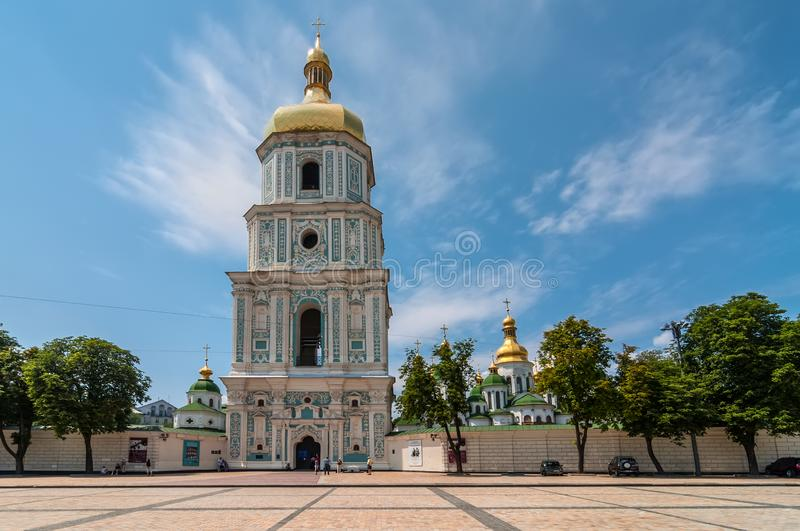 Saint Sophia Cathedral Bell tower in Kyiv, Ukraine royalty free stock images