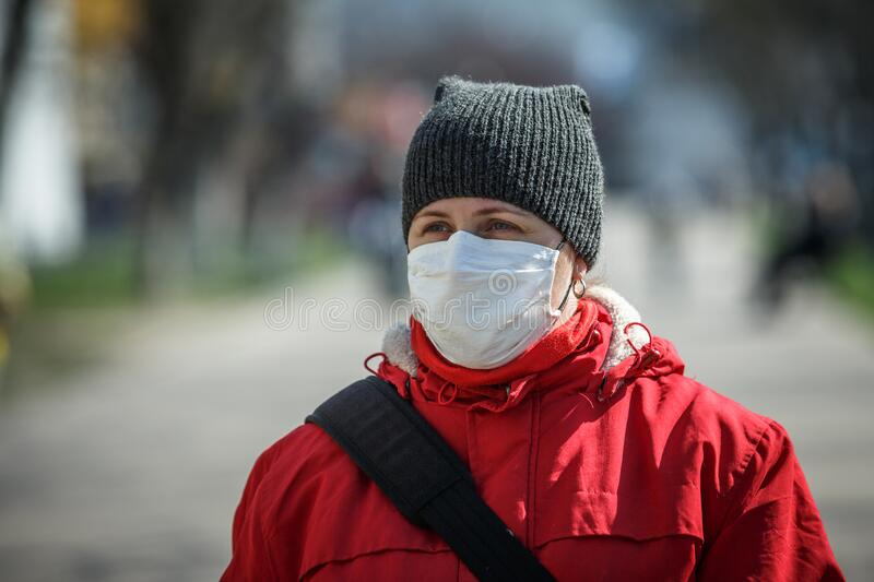 Coronavirus Pneumonia Outbreaks in Ukraine stock photo