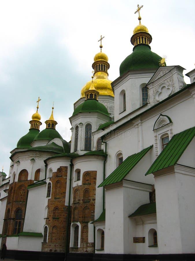 Kyiv, Ukraine - March 24, 2009: Saint Sophia`s Cathedral. Orthodox sanctuary of Ukraine - architectural monument of Kyivan Rus. royalty free stock photo