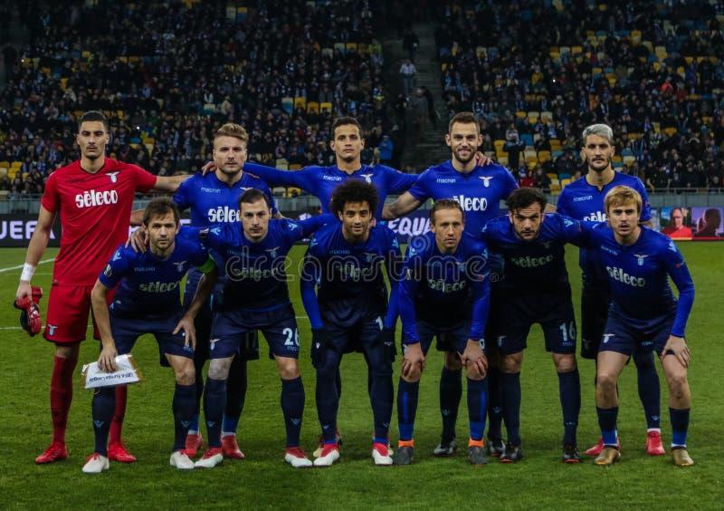 Dynamo Kyiv against SS Lazio stock image