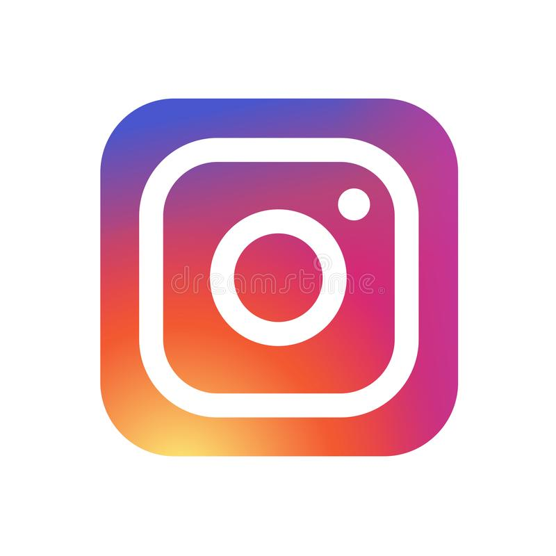 KYIV, UKRAINE - May 31, 2018 - New Instagram camera logo icon with modern gradient design. Instagram is a photo and royalty free illustration