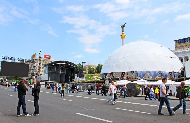 Kyiv, Ukraine, Is Preparing Fan Zone For EURO 2012 ...