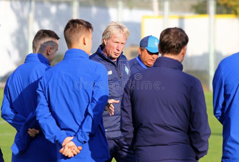 UEFA Europa League: FC Dynamo Kyiv v Malmoe. Pre-match royalty free stock photo