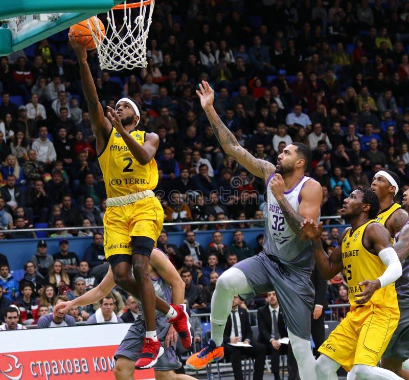 FIBA Basketball Champions League: BC Kyiv Basket v San Pablo Burgos stock image