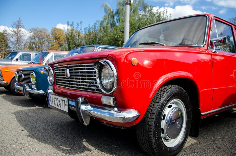 Kyiv, Ukraine - September 30, 2018: Lada car. Old Lada car. The automaker AvtoVAZ was formed from a collaboration between Fiat and the Soviet Vneshtorg stock images