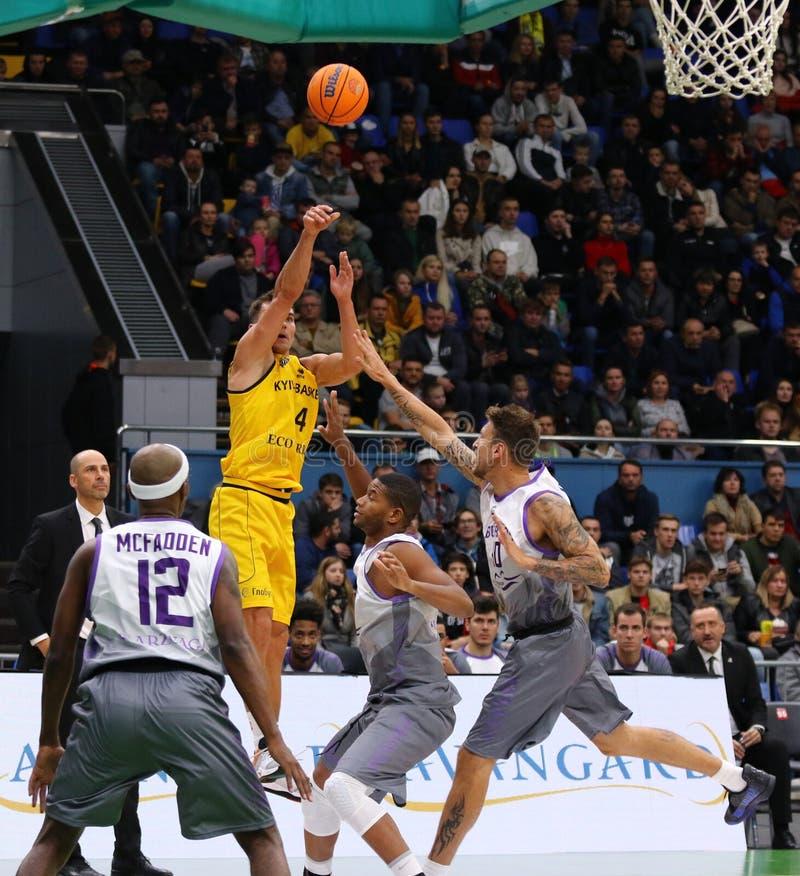 FIBA Basketball Champions League: BC Kyiv Basket v San Pablo Burgos royalty free stock photography