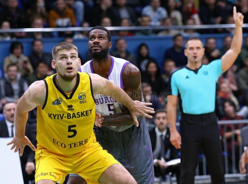 FIBA Basketball Champions League: BC Kyiv Basket v San Pablo Burgos royalty free stock image