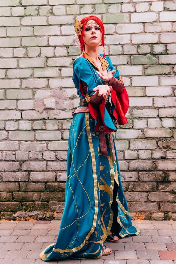 KYIV, UKRAINE - 9 SEPTEMBRE 2018 : Cosplayers d'Anime posant à la Co photo libre de droits
