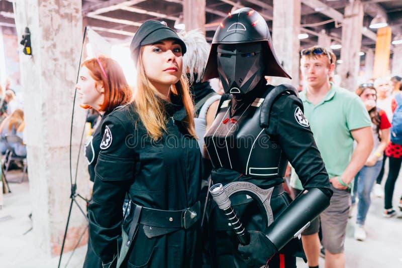 KYIV, UKRAINE - 9 SEPTEMBRE 2018 : Cosplayers de Star Wars posant a photos libres de droits