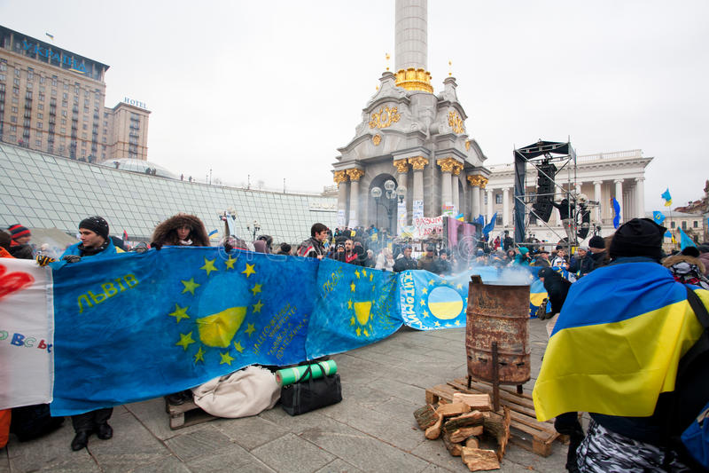 Download KYIV, UKRAINE: Thousands Of People Stand On Euroma Editorial Photo - Image: 35574791