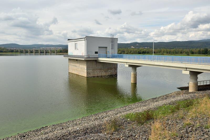 Kyjice, Czech republic - September 08, 2019: building on Ujezd dam royalty free stock photo