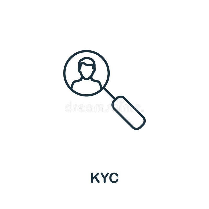 Kykladen-Symbol Thin Line Concept Element aus der Sammlung von Fintech Technology Icons Creative Kyc Icon für mobile Apps und Web vektor abbildung