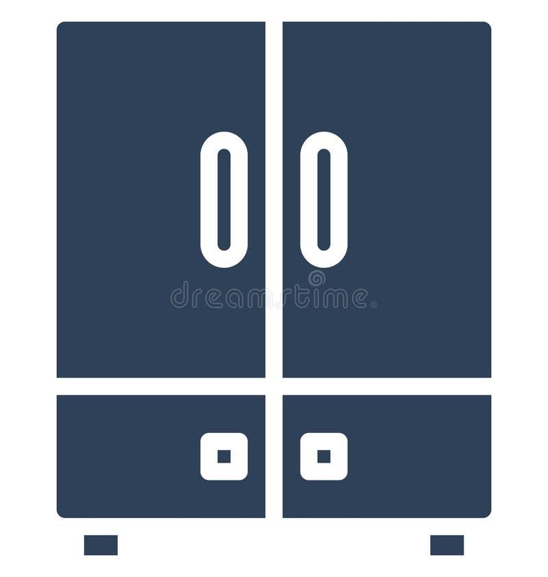 Kyl för dubbel dörr, elektronik isolerad vektorsymbol som kan lätt redigeras i något format eller ändras vektor illustrationer