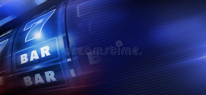 Kyla det blåa enarmad banditbanret vektor illustrationer