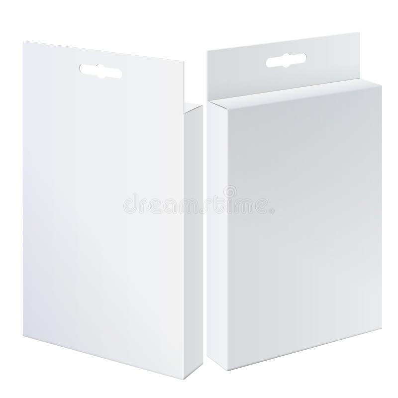 Kyla realistiska två paketerar kartongen. vektor illustrationer