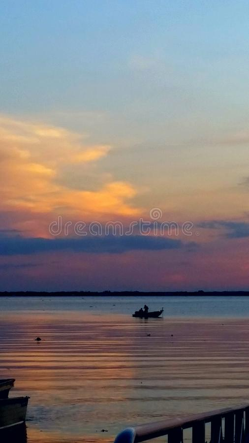Kyla solnedgång royaltyfri bild